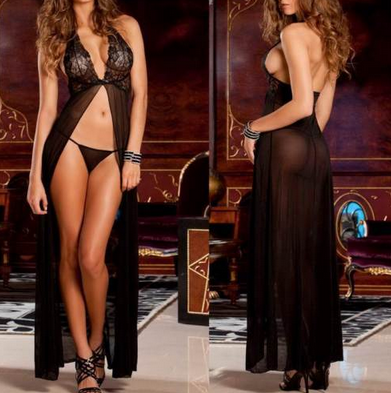 Women's Lingerie Dress + G String Set