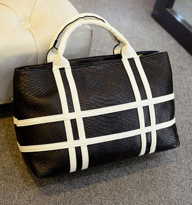 Women's Crocodile Striped Bag