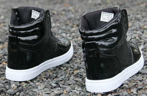 Men's Snake Skin Black High Top Sneakers