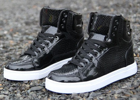 Men's Hot Fluorescent High Top Sneakers - Hot100Fashions