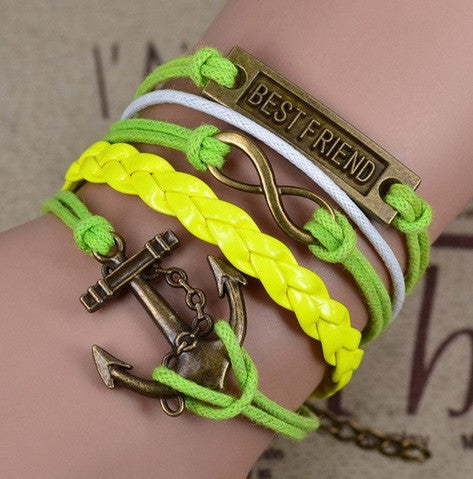 Rope & Chain Anchor Bracelet - Hot100Fashions