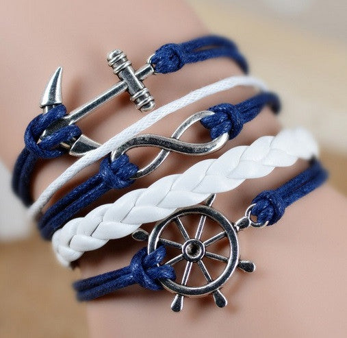 Rope & Chain Anchor Bracelet