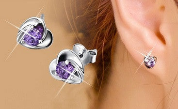 Elegant (Small) Heart Stud Earrings - Hot100Fashions