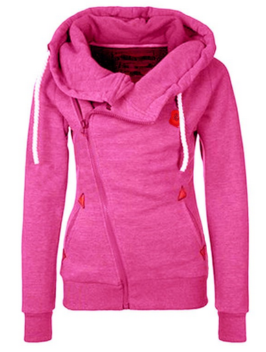 Women's Side Zipper Hooded Fleece - 4 Colors!