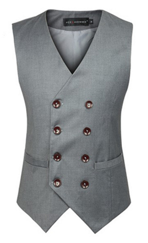 Men's Double Breasted Formal Suit Vest - 2 Colors! - Hot100Fashions