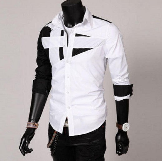 Men's Trendy Design Long Sleeve Shirt - Hot100Fashions