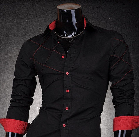 Men s Special Design Long Sleeve Shirt With Two Color Options -  Hot100Fashions d44df2e4a85