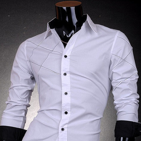 Men's Special Design Long Sleeve Shirt With Two Color Options - Hot100Fashions