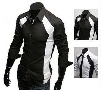 NEW! Trendy Black & White Design Long Sleeve Shirt - Hot100Fashions
