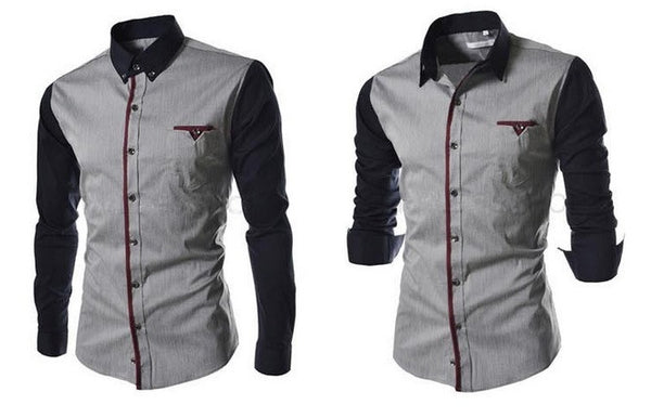 Men's Stylish Long Sleeve Shirt - Hot100Fashions