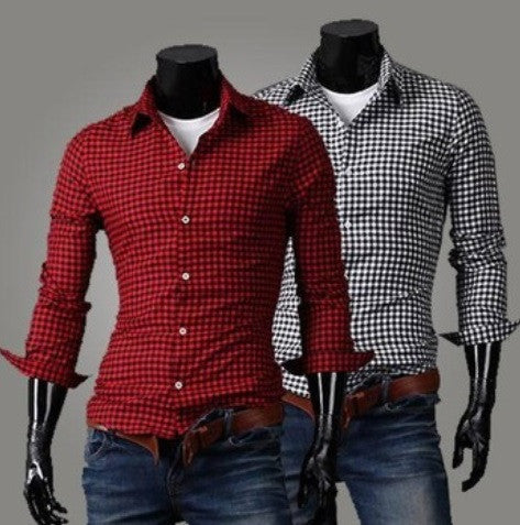 Plaid Casual Long Sleeve Button Down Shirt