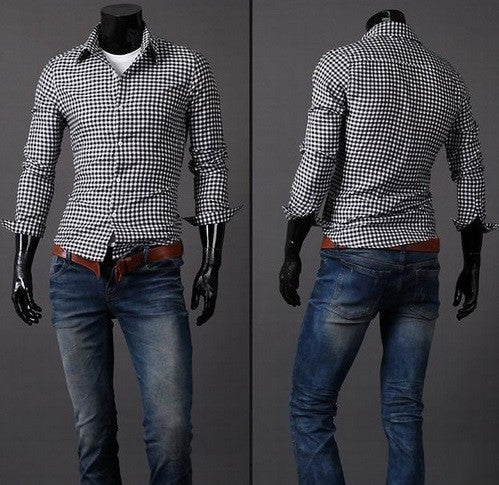 Plaid Casual Long Sleeve Button Down Shirt - Hot100Fashions