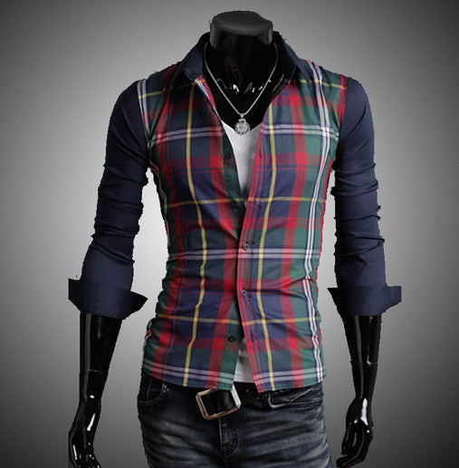 NEW! Men's Plaid Two Color Design - Hot100Fashions