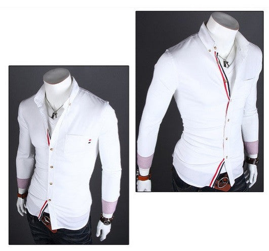 Classy Men's Long Sleeve Button Shirt - Hot100Fashions