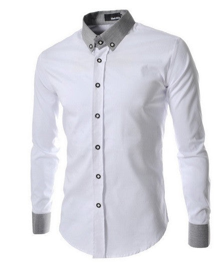 Men's Formal Casual Plain Dress Shirt - Hot100Fashions