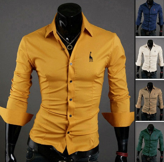 NEW! Men's Long Sleeve Cotton Shirt - Hot100Fashions
