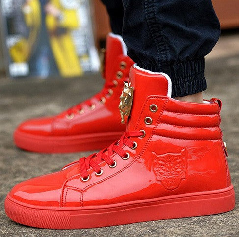 Men's Custom High Top Sneakers - 3 Colors - Hot100Fashions