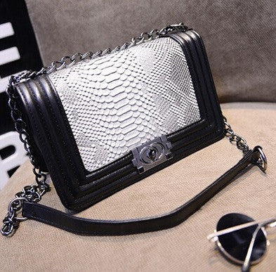 Women's Crocodile Skin Tote Shoulder Bag