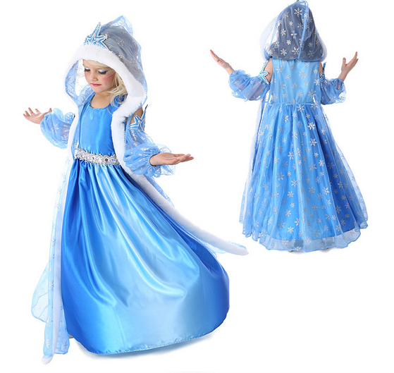 Girl's Princess Dress With Hood - Hot100Fashions