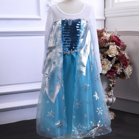 Girls Princess Dress With Character Emblem - Hot100Fashions