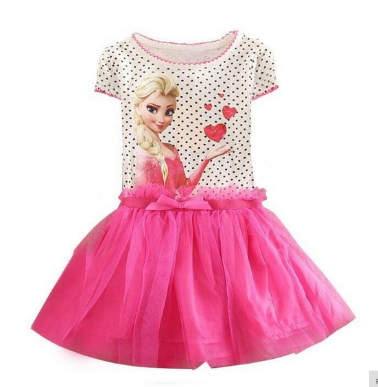 Girl's Elsa Polka Dot Dress In THREE COLORS! - Hot100Fashions