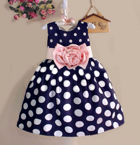 3 COLORS!! New Girl's Polka Dot Dress - Hot100Fashions
