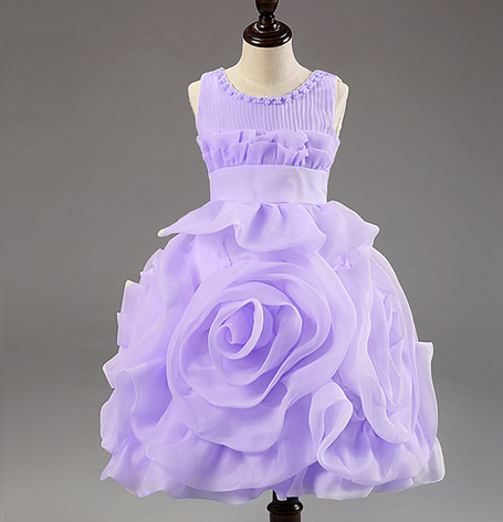 Children's Princess Dress Three Quarter Wedding Kids Dress for Girls 2015 Brand New Style - Hot100Fashions