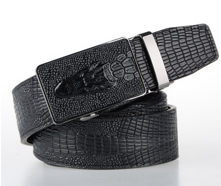 Men's Crocodile Automatic Locking Belt
