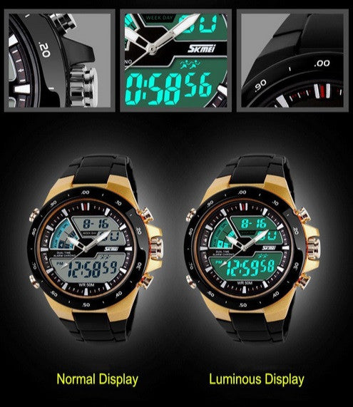 Watches Men's Luxury LED Watch Quartz Digital Dive 50m Casual Watch