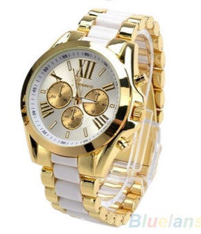 Men's Watch Fashion Stainless Steel Roman Numerals Quartz Analog WristWatches - Hot100Fashions
