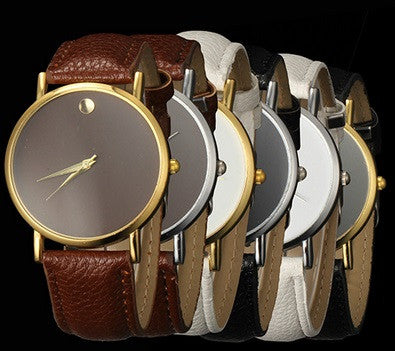 New Fashion Minimalism Faux Leather Band Wrist Watch - Hot100Fashions