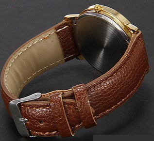 New Fashion Minimalism Faux Leather Band Wrist Watch