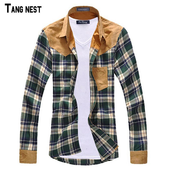 Men's Plaid Button Down Long Sleeve Shirt