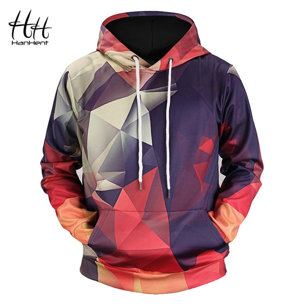 Men's Aztec Diamond Star Pattern Hoodie