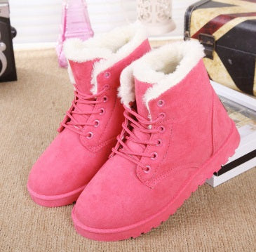 Women's Plush Fashion Warm Winter Boots - 5 Colors!