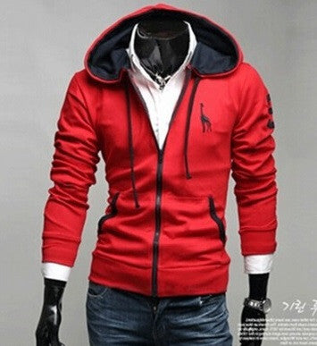 NEW! Men's Sporty Zip Down Hoodie - Hot100Fashions