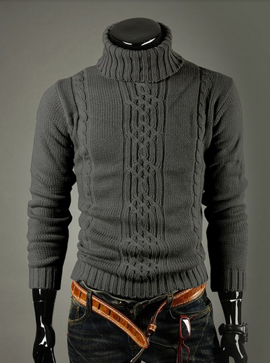 Men's Turtleneck Pattern Sweater - Hot100Fashions