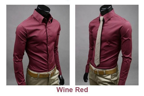 Men's Formal Long Sleeve Button Down - 16 Colors!