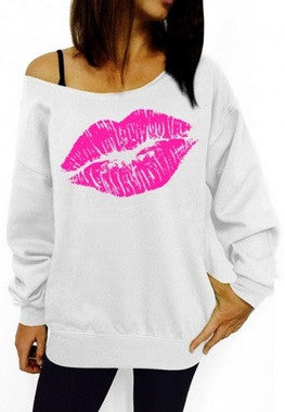 Women's Sexy Lips Sweatshirt - 7 Colors