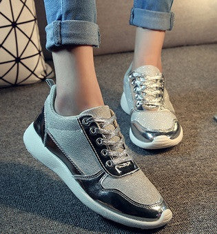 Women's Shiny Sneakers