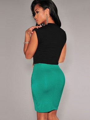 New Fashion Women Skirt Stretch Draped High Waist - Hot100Fashions