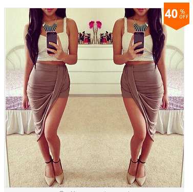 Women's Sexy Wrap Banded Waist Draped Skirt