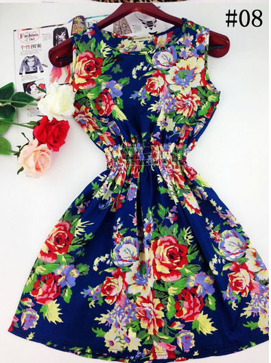 Summer Casual Sleeveless Printed Dress