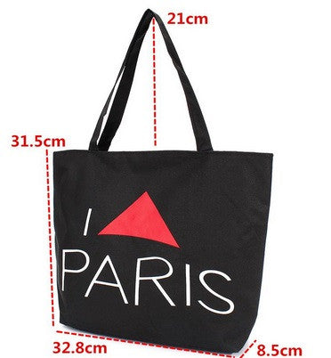 Women's Large Paris Canvas Bag