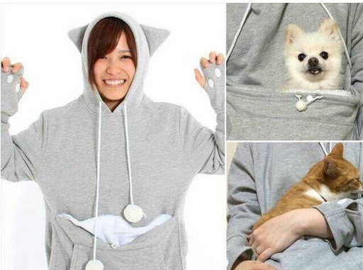 Cat Dog Pouch Hoodie - Hot100Fashions