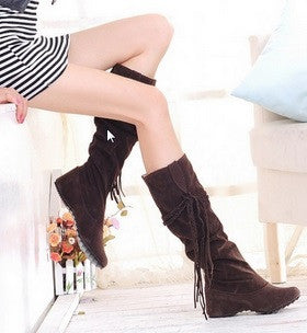 High Quality Women's Knee High Tassel Boots