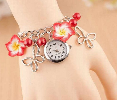 Women's Flower Design Watch