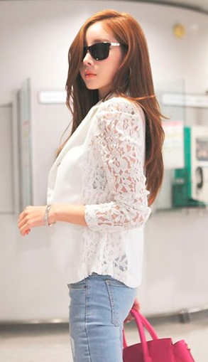 Women's Sexy Lace Blazer - 2 Colors!
