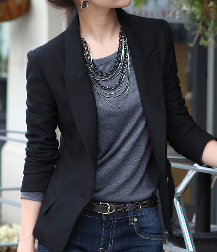 Women's Formal Black Blazer