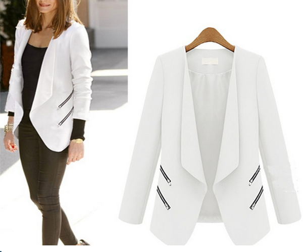 Women's Leisure Suit Zipper Blazer
